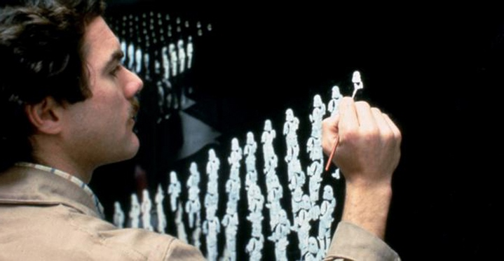 Chris Evans réalise un matte-painting démultipliant les storm troopers de Star Wars, Episode VI, Le Retour du Jedi (Richard Marquand, 1983).