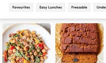 gros plan rubrique cuisine app deliciously ella