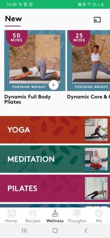 rubrique bien-être cours sports et méditation