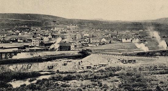 La ville de Kemmerer, Wyoming, en 1908 (source : http://www.wyomingtalesandtrails.com/kemmerer.html).