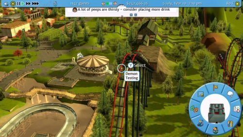 image gameplay rollercoaster tycoon 3