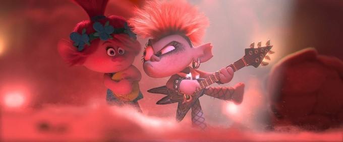 poppy et barb s'affrontent en chansons dans les trolls 2
