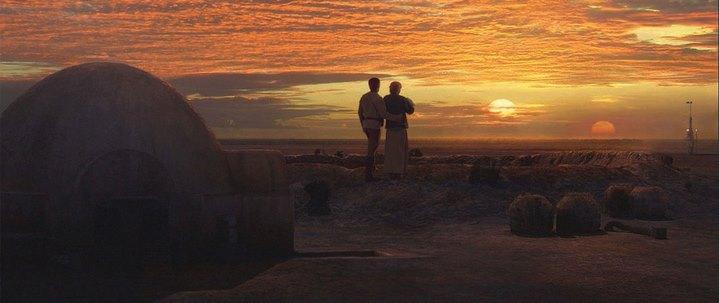 La promesse d'une retour de l'ordre naturel, à la fin de Star Wars, Episode III, La Revanche des Siths (2005).