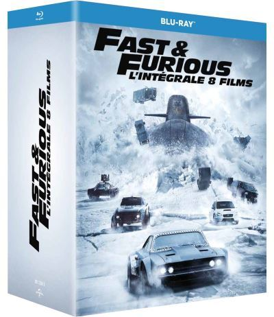 image blu ray 1 à 8 fast and furious coffret
