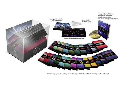 image blu ray 4k edition collector intégrale la sage de l'infini marvel coffret