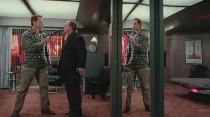 De quel côté du miroir se situent Douglas Quaid et le docteur Edgemar ?