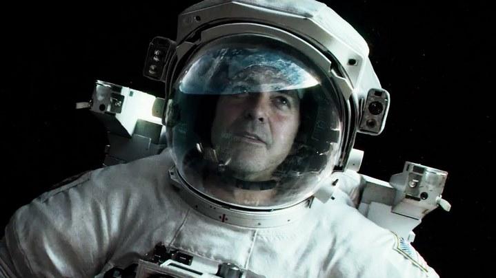 George Clooney dans le film Gravity.