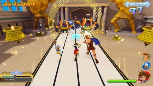 image gameplay kingdom hearts melody of memory