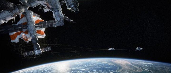 Image du film Gravity de Alfonso Cuaron (2013).