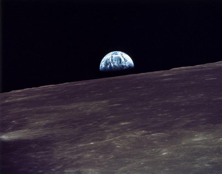 Lever de Terre, photographie prise par Apollo VIII en 1968.