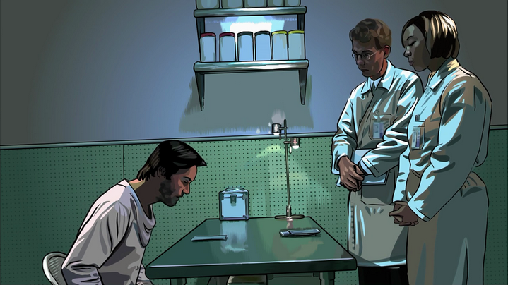 Keanu Reeves dans A Scanner Darkly de Richard Linklater.