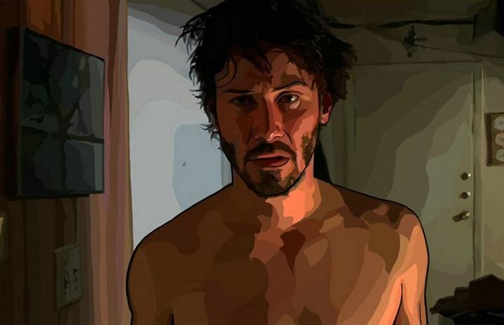 Keanu Reeves dans le film A Scanner Darkly de Richard Linklater (2006).