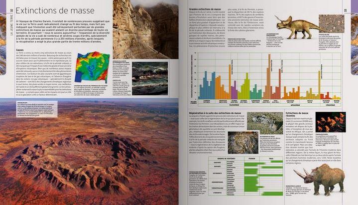 """""""Extinctions de masse"""", pages extraites de """"L'Encyclopédie visuelle de la vie préhistorique"""""""