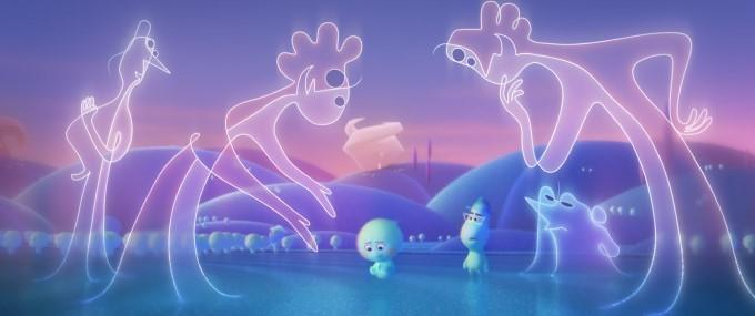les terry et michel guident les jeunes âmes dans soul de pixar