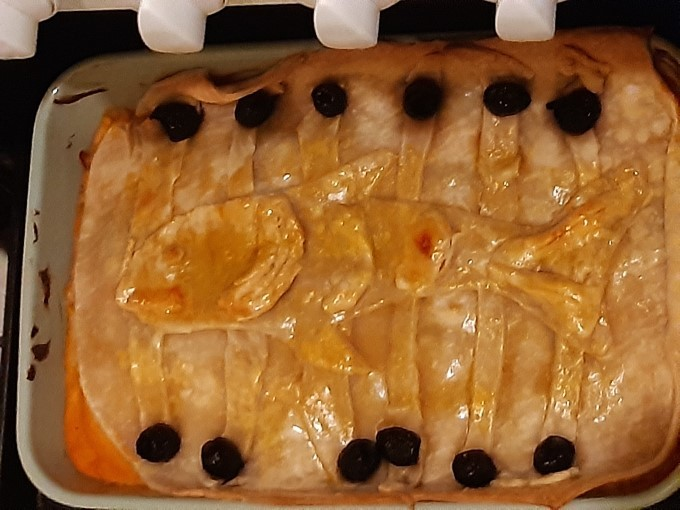 tourte au potiron et aux harengs inspiré de kiki la petite sorcière d'après la recette du livre de cuisine les recettes des films du studio ghibli