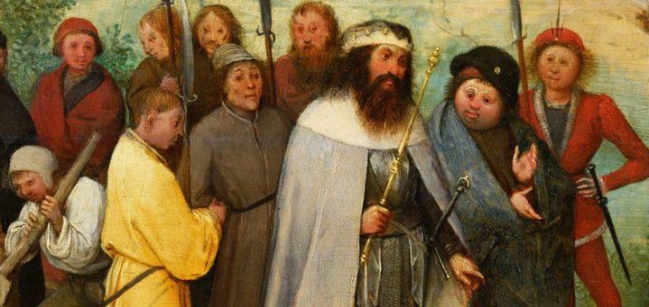 Le roi babylonien Nimrod et sa suite (détail de la Grande tour de Babel)