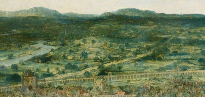 La plaine de Shinéar vue par Bruegel ressemble à s'y méprendre à la campagne idéale de l'Europe de la Renaissance (détail de la Grande tour de Babel).