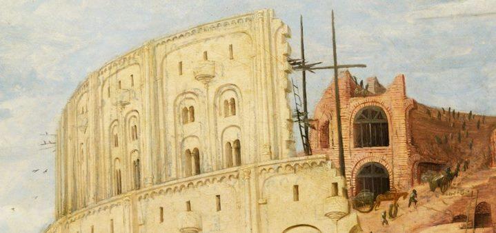 Le sommet de la tour de Babel (détail du tableau de la Grande tour).