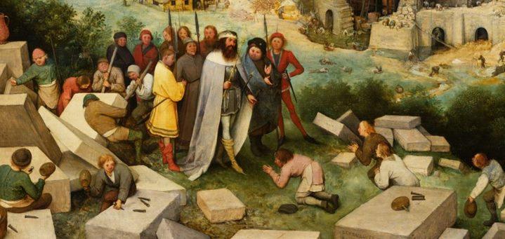 Le roi babylonien Nimrod et sa suite (détail de la Grande tour de Babel).