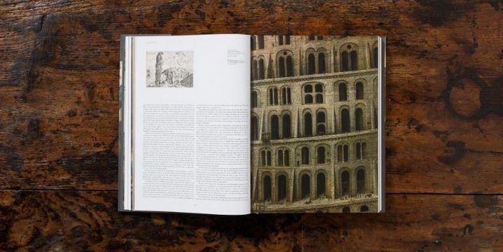 Détail des galeries de La Grande tour de Babel, dans le livre Pieter Bruegel. L'œuvre complet. Source : Taschen