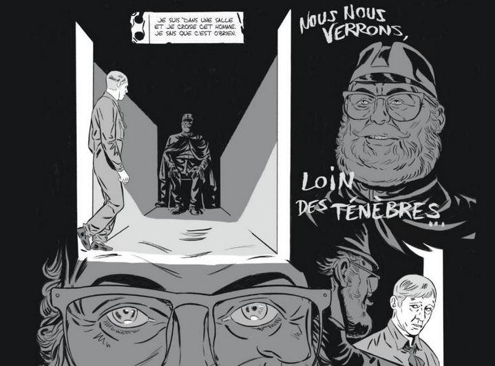 Winston Smith rêve d'O'Brien (dessin de Rémi Torregrossa).