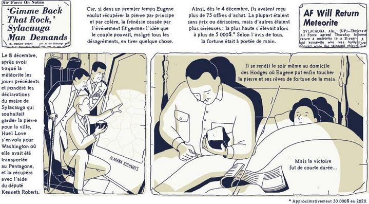 Extrait de La Météorite de Hodges de Fabien Roché (Delcourt).