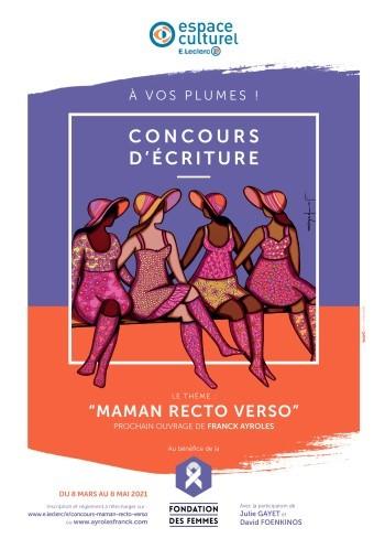 affiche concours d'écriture espace culturel leclerc niort et franck ayroles