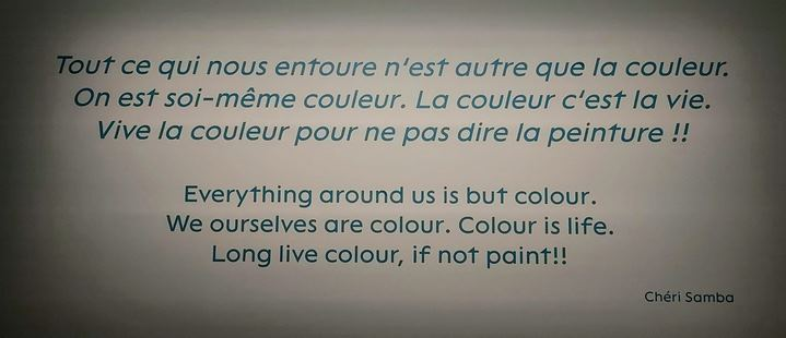 """Citation affichée dans """"Une Afrique en couleurs"""" du Musée des Confluences de Lyon."""