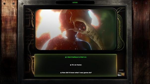 boîte de dialogue jeu vidéo beautiful desolation sur switch