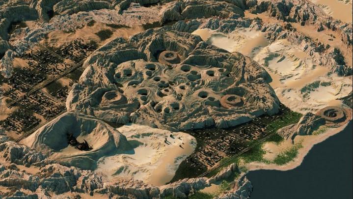 paysage jeu vidéo beautiful desolation sur switch