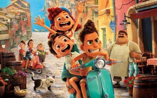 """Affiche du film """"Luca"""" des studios Pixar, réalisé par Enrico Casarosa, distribué sur Disney+"""
