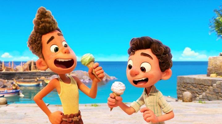 """Alberto et Luca dans le film """"Luca"""" des studios Pixar."""