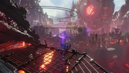 image gameplay ratchet and clank rift apart