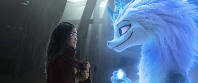 raya et sisu le dernier dragon fluo