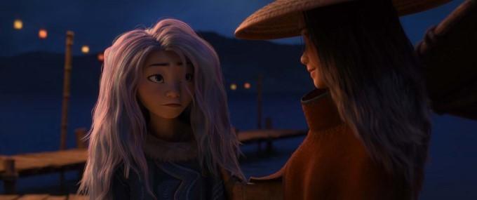 sisu et raya dans le film de disney