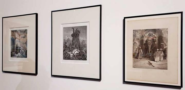 """Gravures de Gustave Doré exposée dans """"Fantaisies héroïques"""". © Culturellement Vôtre"""