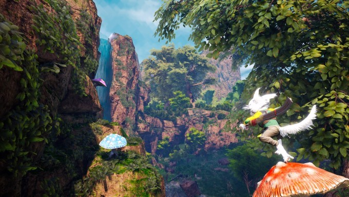 vue paysage capture jeu vidéo biomutant