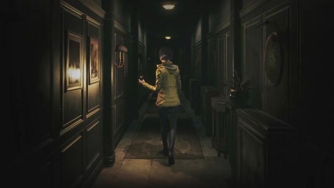 couloir dans le manoir du jeu vidéo song of horror