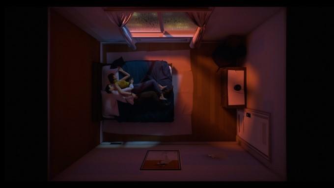 le héros et sa femme dans le jeu vidéo 12 minutes sur xbox