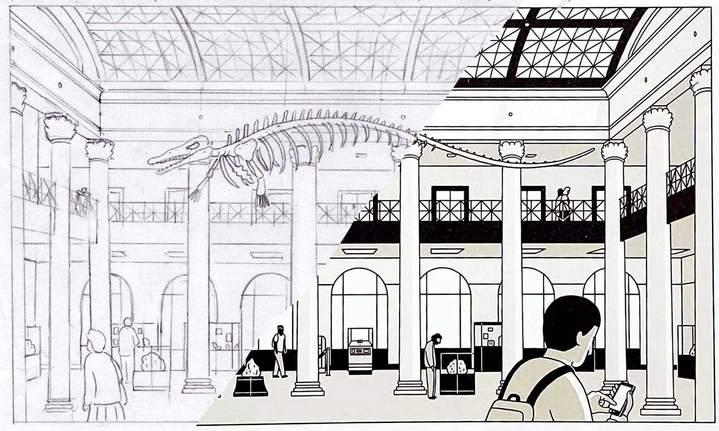 Du crayonné au dessin achevé... © Éditions Delcourt 2021 – Fabien Roché.