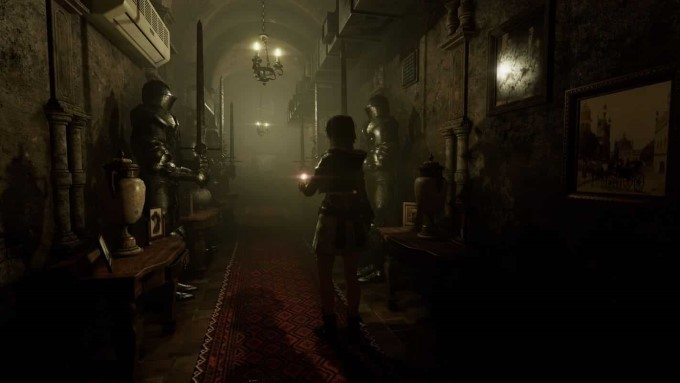 capture jeu vidéo tormented souls exploration couloir de lamaison